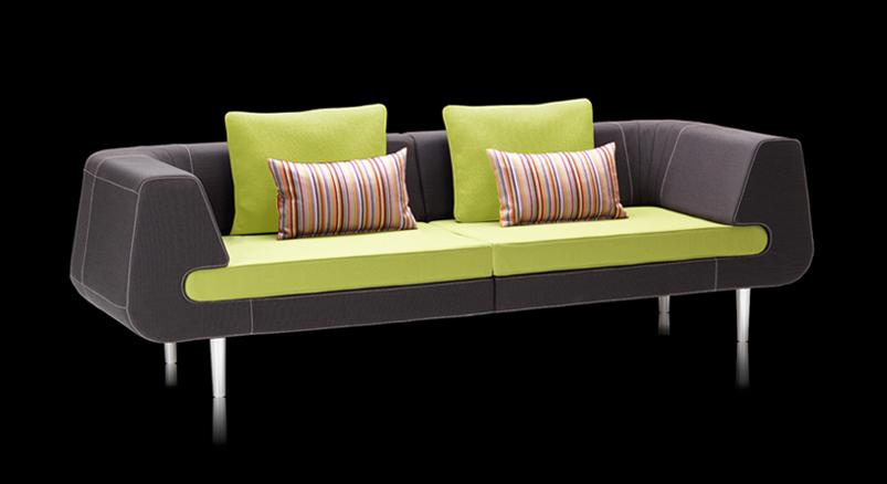 Retroinspireret loungesofa med mange muligheder