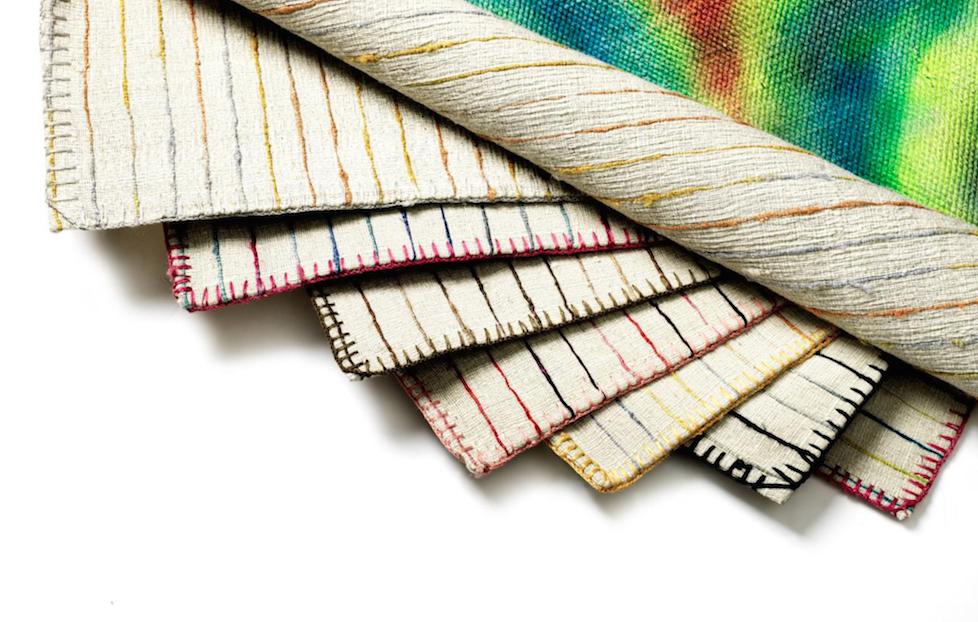 Varme håndlavede tæpper med farvespil