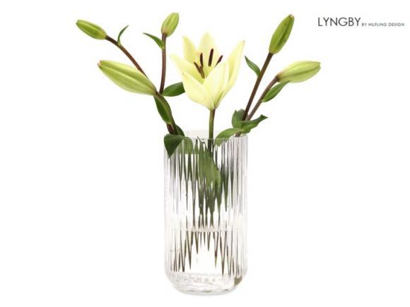 Lyngby vasen i klart krystalglas
